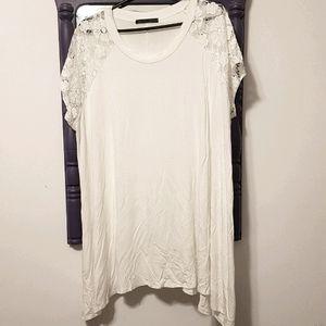 Pure white sharkbite shirt